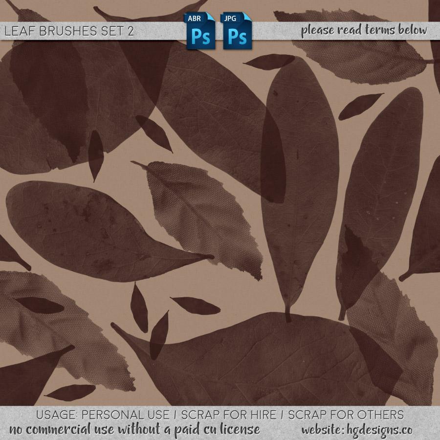 free download ~ leaf photoshop brushes set 2