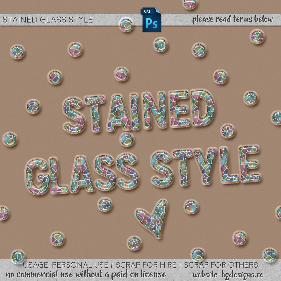 Free download ~ Stained glass Photoshop Layer Style
