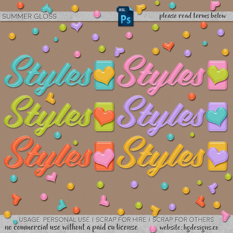 Free download ~ glossy photoshop layer styles
