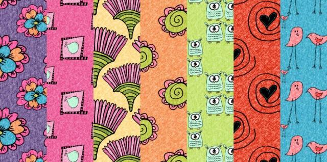 Free download ~ seamless tiling jpg doodle patterns