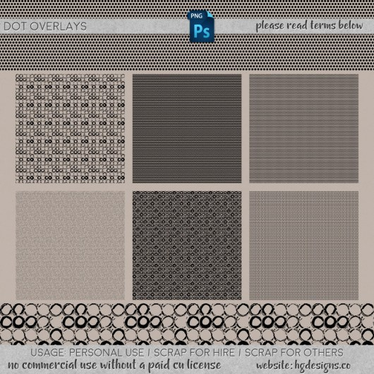 "Free download ~ transparent png overlays sized 12""x12"" with dot patterns"