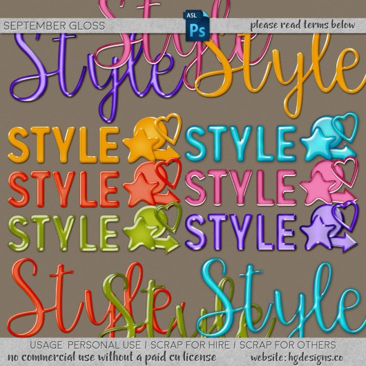 Free download ~ glossy styles for use in photoshop