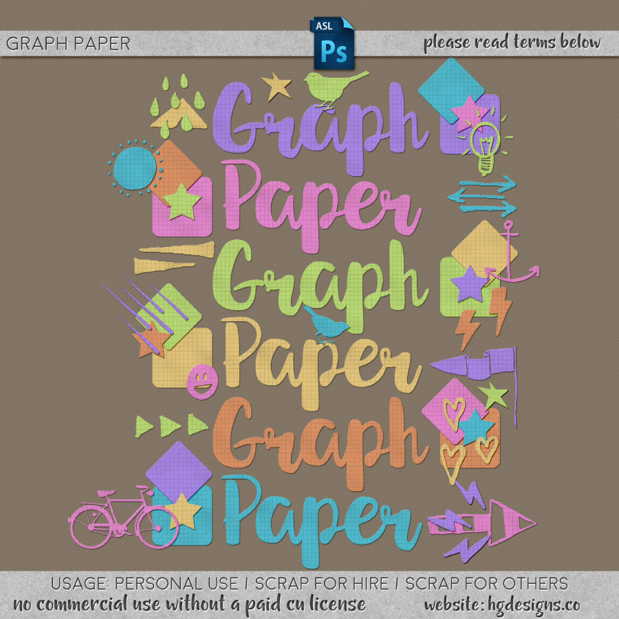 freebie: graph paper photoshop styles