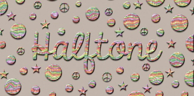 free download ~ photoshop halftone layer style