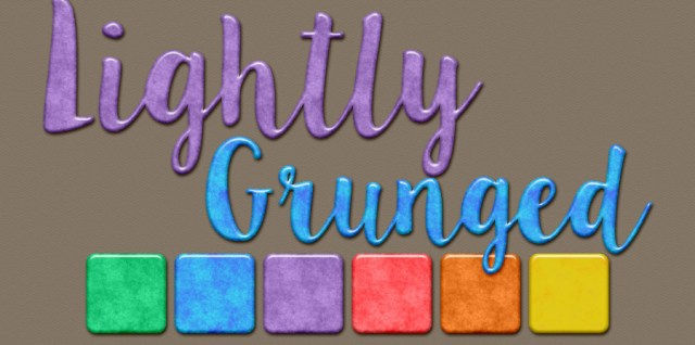 Free download ~ lightly grunged photoshop layer styles