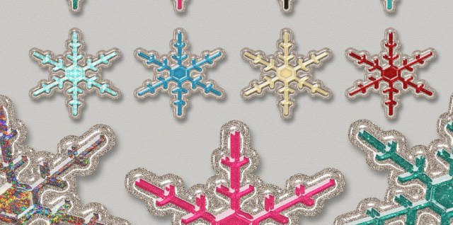 Free download ~ commercial use glitter snowflakes in png format and 300dpi #freedownload #freegraphics #christmasgraphics