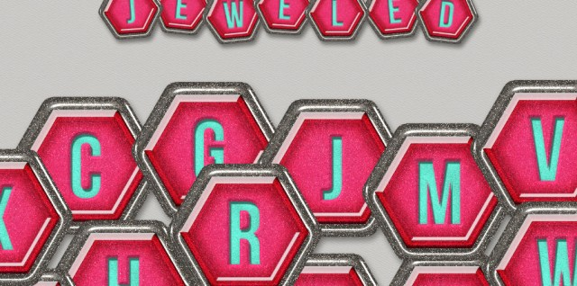 Free download ~ Jeweled alphabet in png format and 300dpi