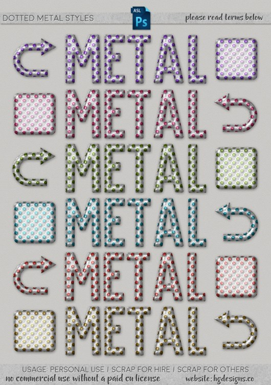 Free download ~ dotted metal photoshop layer styles