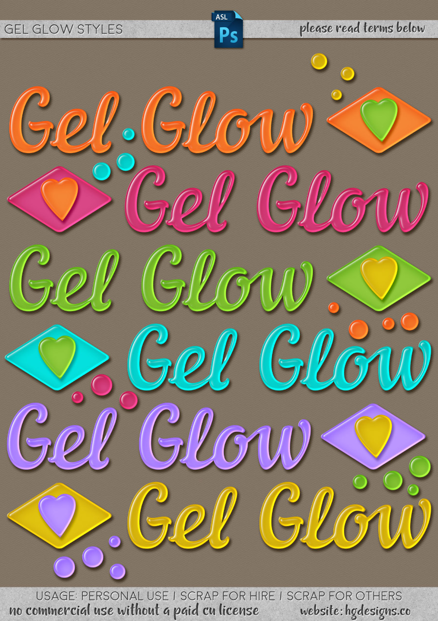 freebie: gel glow photoshop layer styles