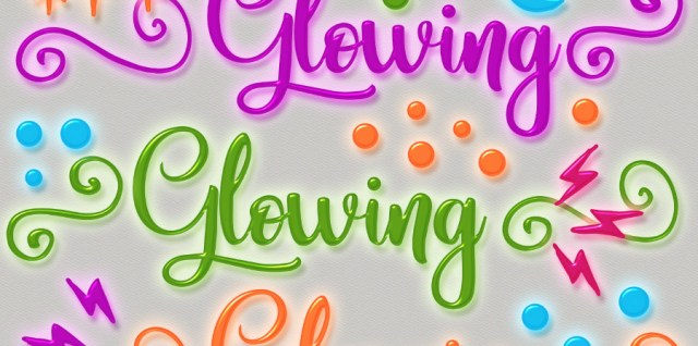 Free download ~ glowing gel photoshop layer styles
