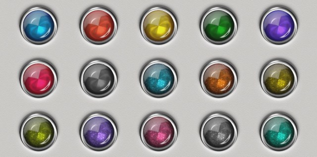 Free download ~ silver edged jewel brads/buttons in png format