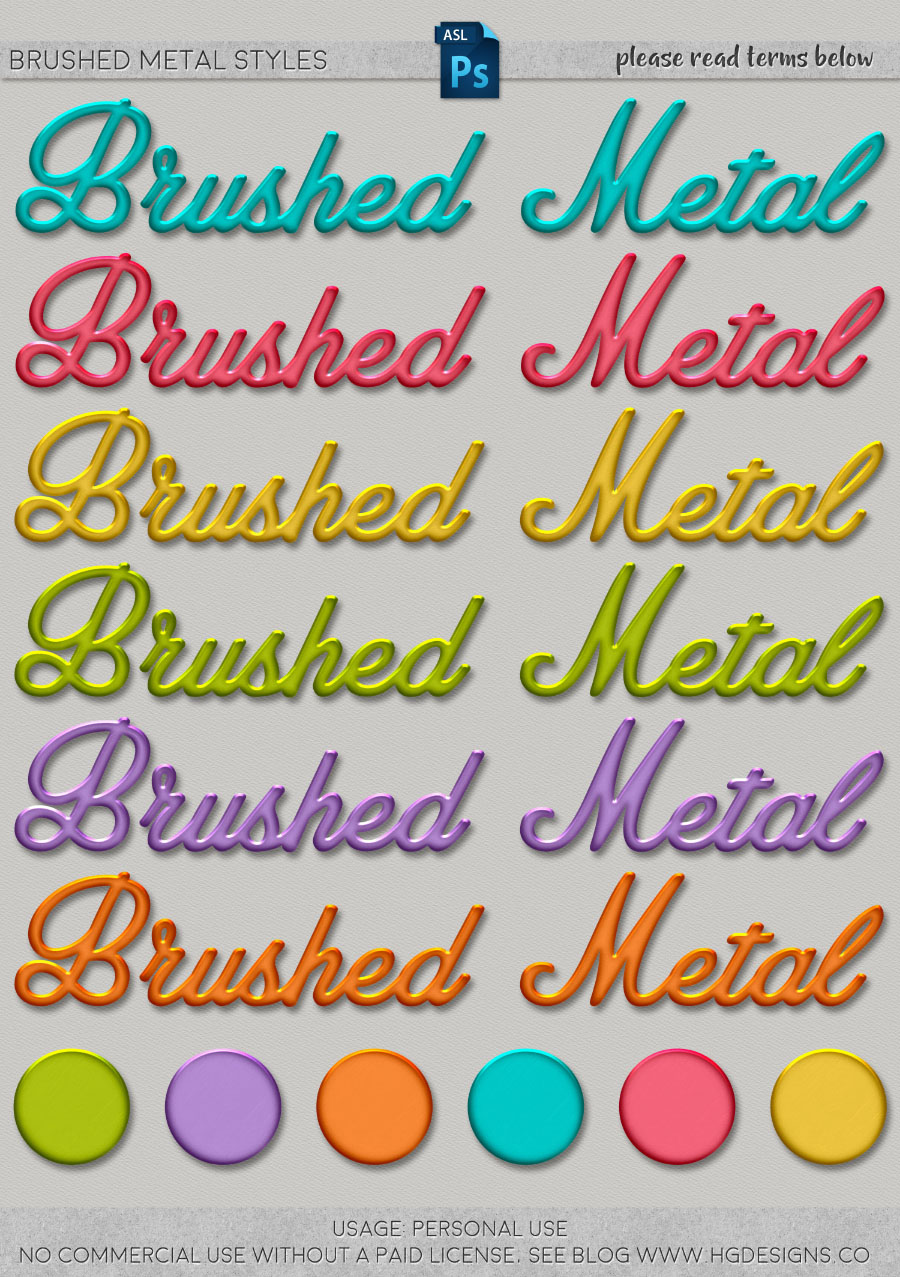 freebie: brushed metal photoshop layer styles