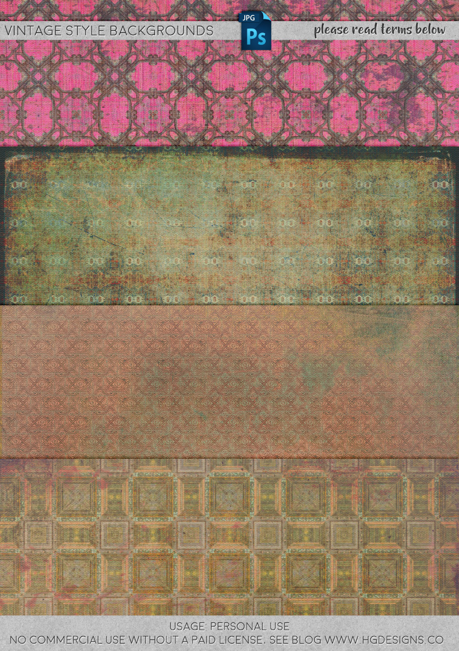 freebie: vintage style backgrounds