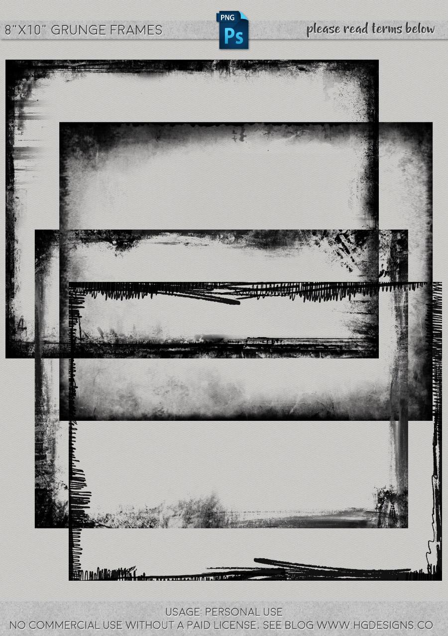 freebie: 8″x10″ grunge frames