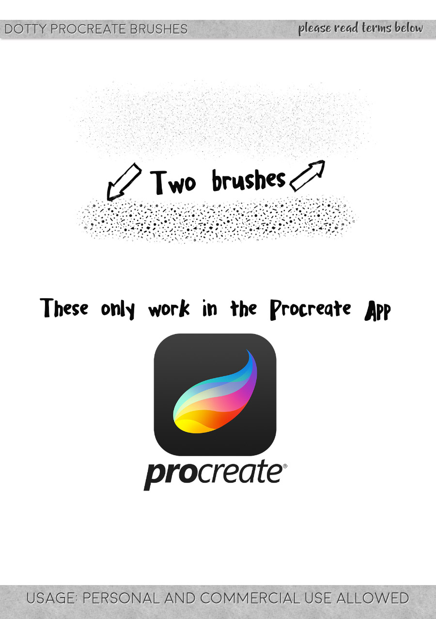 freebie: two brushes for the procreate app