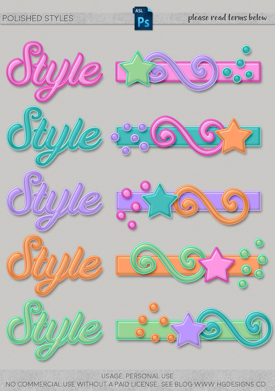 freebie: photoshop layer styles