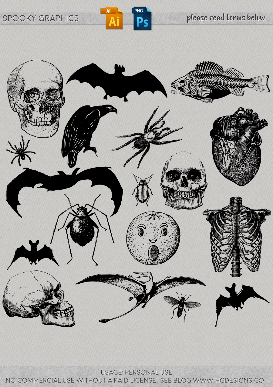 freebie: spooky Halloween graphics collection
