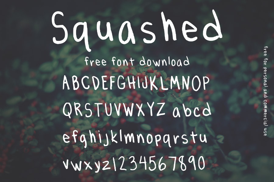 freebie:  commercial use font