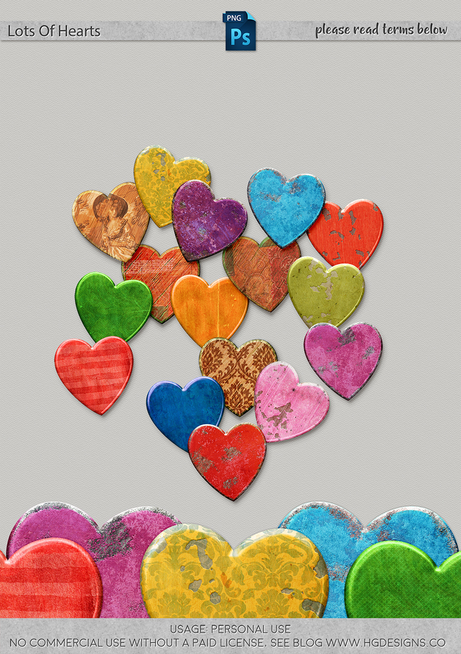 freebie: lots of hearts