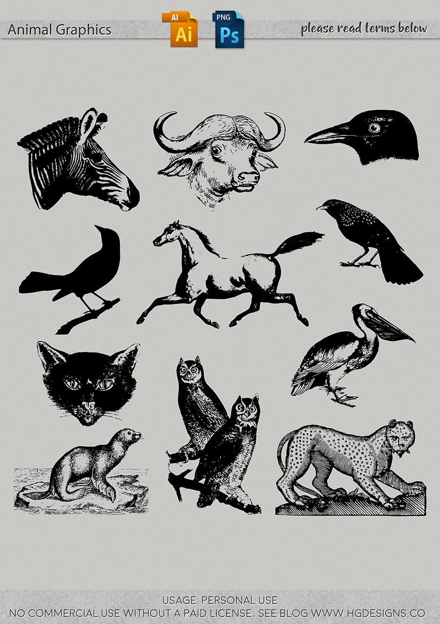 freebie: animal graphics