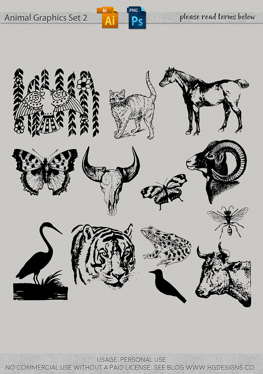 freebie: more animal graphics