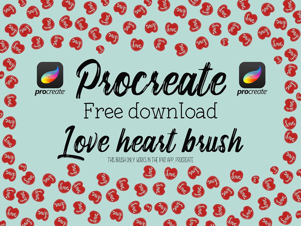 Freebie: Happy Valentine's Day and a free Procreate brush!