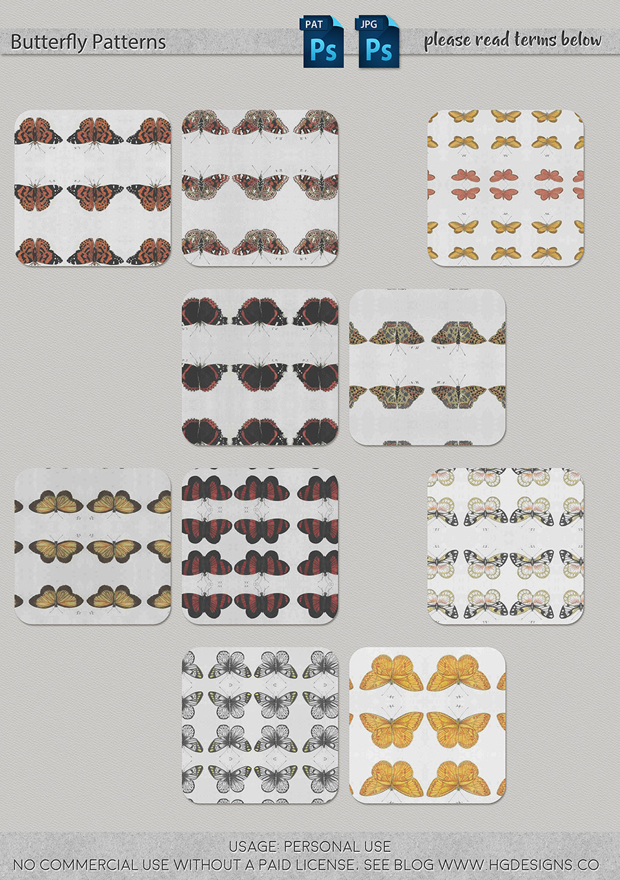 freebie: butterfly seamless tiling patterns