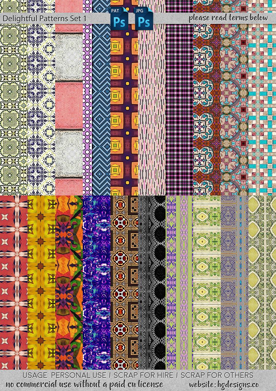 freebie: delightful seamless tiling patterns