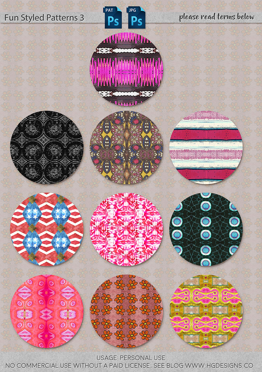 freebie: seamless tiling patterns set