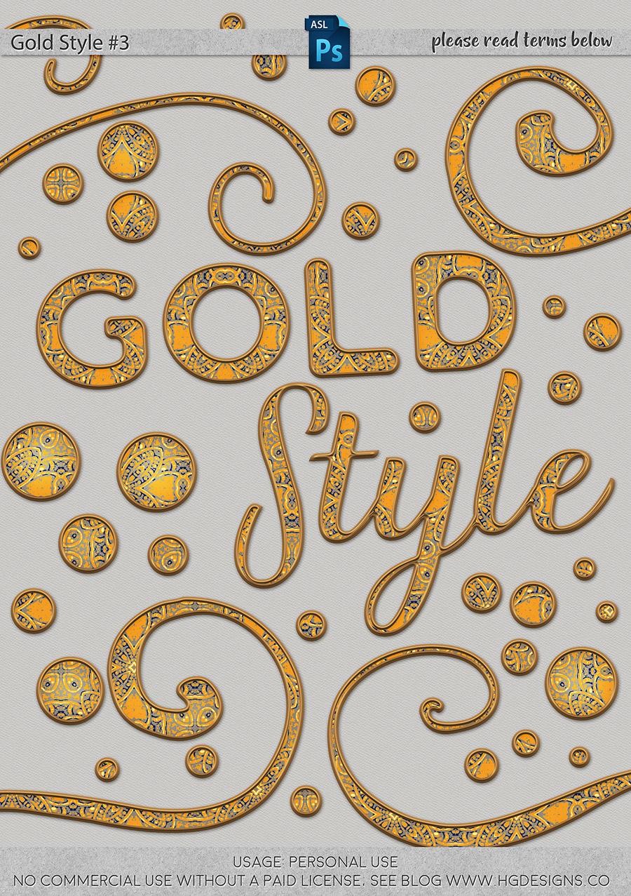 freebie: gold photoshop layer style