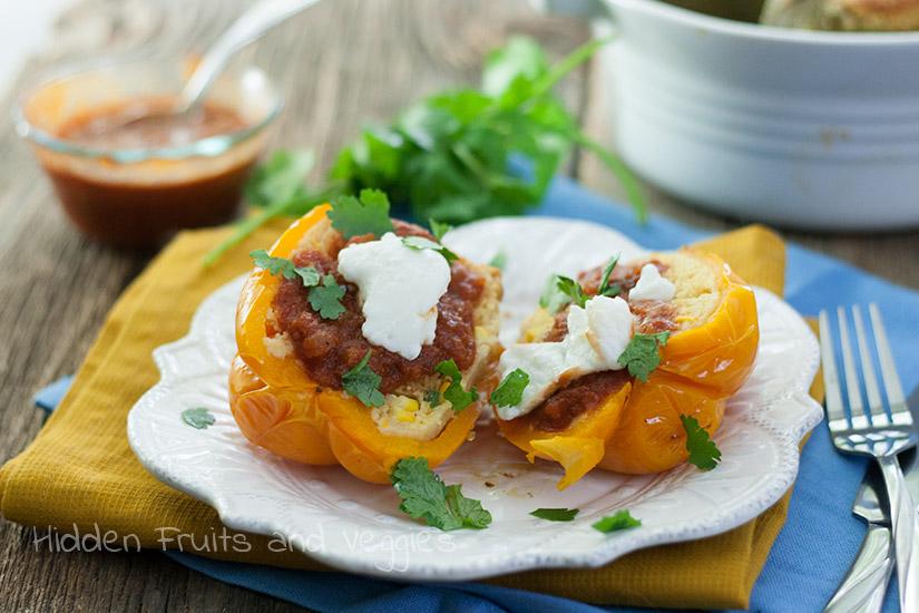Jalapeno Cornbread Stuffed Peppers