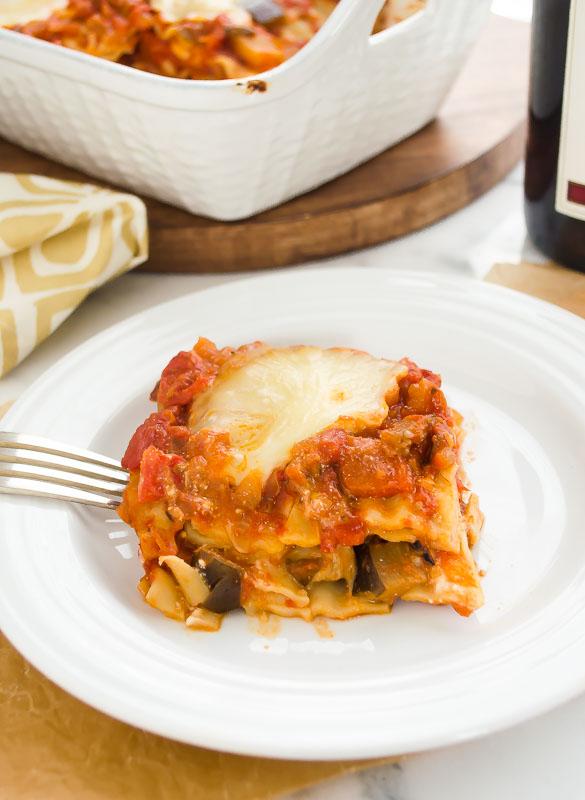 vegetarian lasagna with eggplant ragu4 | flavorthemoments.com