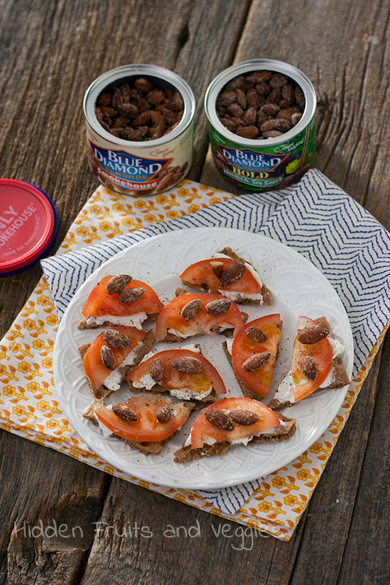 Smokehouse Almond and Cream Cheese Snacks