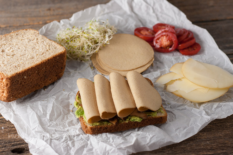 Loaded Turkey, Avocado, and Mushroom Sandwich + Lightlife Giveaway @hiddenfruitnveg