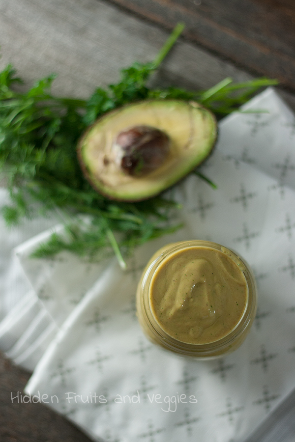Greek Yogurt + Avocado Ranch Dressing @hiddenfruitnveg