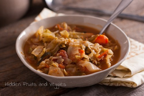 Veggie-Packed Cabbage Soup @hiddenfruitnveg