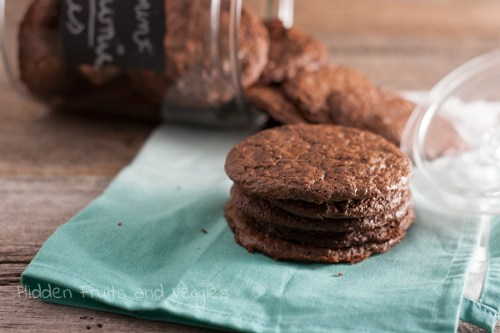 Peppermint Brownie Cookies @hiddenfruitnveg
