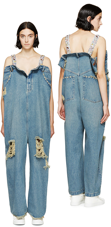 ashish denim jumpsuit