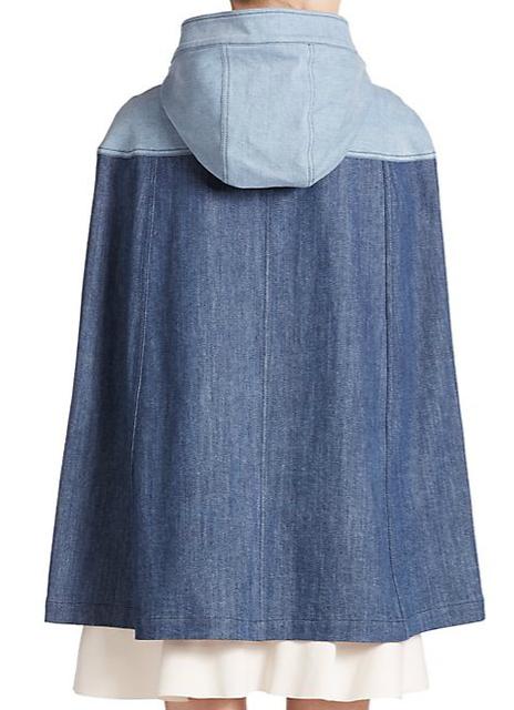 Denim Hooded Cap rear - See by Chloe