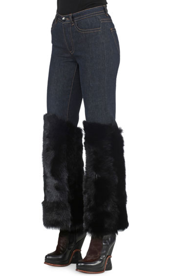 Fendi Denim with fur cuffs 2250