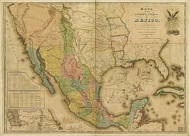 Mejico map during the Gold Rush