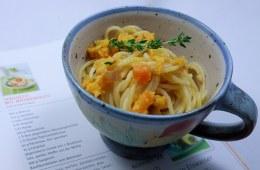 Spaghetti mit Möhrenpesto