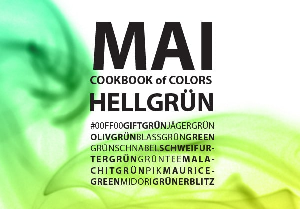 Cookbook of Colors: Hellgrüne Rezepte für den Mai