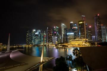 singapore-waterfront-night