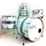 HighWood Custom Lite, White Gloss & Silver Sparkle Stripes