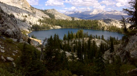 A perfect view of May Lake on the return trip down from Mount Hoffman (day three)