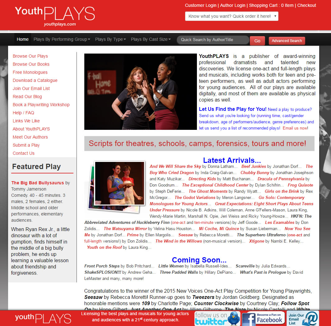 Three Padded Walls is coming to YouthPlays