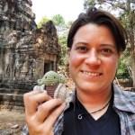 Anja und Yoda at Angkor