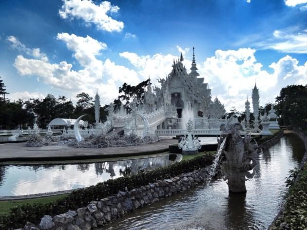 Chiang Rai - Wat Rong Khun. Der faszinierendste Tempel den ich gesehen habe.