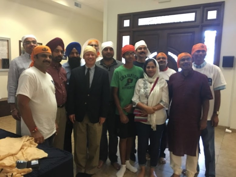 Sewa Day 2016 in Colorado: Volunteers (with Congressman Mike Coffman) prepared and served food for 300+ people at the Gurudwara.